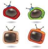 Fun cartoon televisions Stock Photo