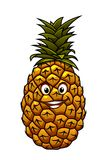 Fun cartoon tropical pineapple fruit Royalty Free Stock Image