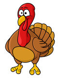 Fun cartoon turkey Royalty Free Stock Photo