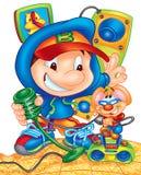 Fun cartoons Stock Images