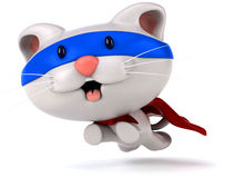 Fun cat. 3d generated picture Royalty Free Stock Photography