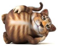 Fun cat - 3D Illustration royalty free stock image