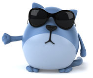 Fun cat with eyeglasses Royalty Free Stock Photo