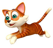 Fun cat funny cartoon character Stock Photography