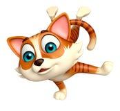 Fun cat funny cartoon character. 3d rendered illustration of cat funny cartoon character Stock Photo