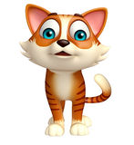 Fun cat funny cartoon character Stock Images
