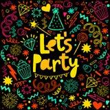 Fun celebrate background. Birthday party card Royalty Free Stock Photos