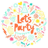 Fun celebrate background. Birthday party card Royalty Free Stock Photo
