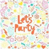 Fun celebrate background. Birthday party card Stock Photo