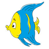 Fun character little fish. Vector Royalty Free Stock Photo