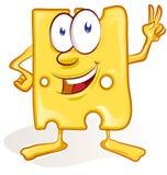 Fun cheese cartoon Stock Photos