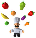 Fun chef. 3d generated picture Royalty Free Stock Photography