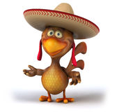 Fun chicken Stock Image