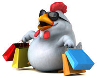 Fun chicken - 3D Illustration Stock Images