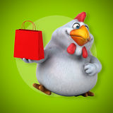 Fun chicken - 3D Illustration Royalty Free Stock Photography