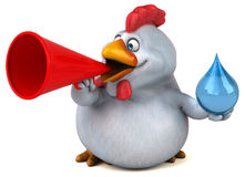 Fun chicken - 3D Illustration Royalty Free Stock Photo