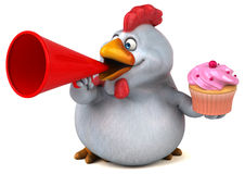 Fun chicken - 3D Illustration Royalty Free Stock Photos