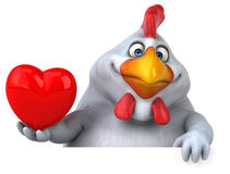 Fun chicken - 3D Illustration Royalty Free Stock Images