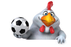 Fun chicken - 3D Illustration Stock Image
