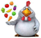 Fun chicken - 3D Illustration Royalty Free Stock Image
