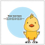Fun chicken, greeting card, vector Stock Image