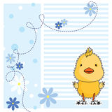 Fun chicken, greeting card, vector Royalty Free Stock Photography