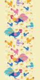 Fun chickens vertical seamless pattern background Stock Photos