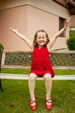 Fun  - child portrait Stock Photography