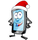 Fun christmas  mobile cartoon Stock Photos