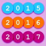 2015-2017 fun circle sign Stock Images