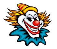 Fun circus clown. In cartoon style for humor entertainment design Stock Photos