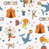 Fun circus pattern. Fun circus colorful seamless  pattern Royalty Free Stock Photo