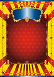 Fun circus poster Royalty Free Stock Image