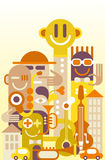 Fun City. The Fun City - vector illustration Royalty Free Stock Images