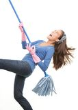 Fun cleaning Royalty Free Stock Image