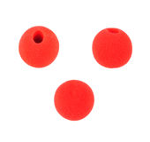 Fun clown red nose wear. On isolate Stock Photos