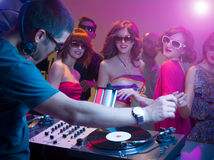 Fun in club Royalty Free Stock Photo