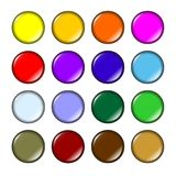 Fun colored buttons Royalty Free Stock Photos