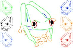 Fun Colored Frogs Royalty Free Stock Image