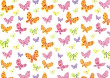 Fun colorful butterfly pattern Royalty Free Stock Photo