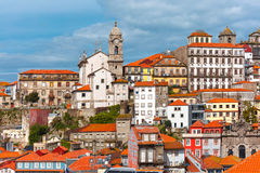 Fun colorful houses in Old town of Porto, Portugal Royalty Free Stock Image