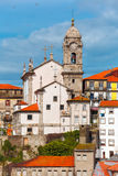 Fun colorful houses in Old town of Porto, Portugal Royalty Free Stock Photos