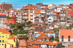 Fun colorful houses in Old town of Porto, Portugal Stock Photography