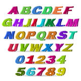 Fun colorful lines vector font Royalty Free Stock Photo