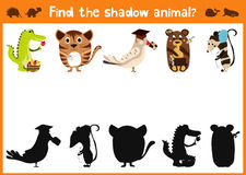 Fun and colorful puzzle game for children's development find where a deer, striped Chipmunk and fish. Training mazes for preschool Stock Photography