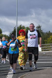 A fun competitor in the Great North Run 2011. A competitor in the Great North Run 2011, an annual event in Newcastle upon Tyne, in the north of England Stock Image
