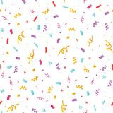 Fun confetti seamless repeat pattern. Great for a birthday party or an event celebration invitation or decor. Surface pattern design Stock Photo