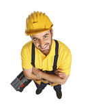 Fun contruction worker portrait Royalty Free Stock Photography