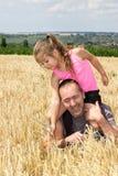 Fun in the corn field Royalty Free Stock Photos