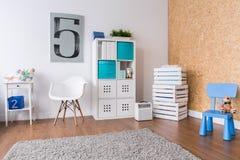 Fun corner in cozy boy's room Royalty Free Stock Photography